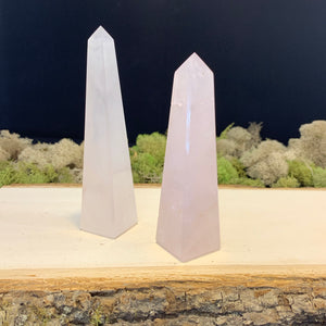 Rose Quartz Obelisks