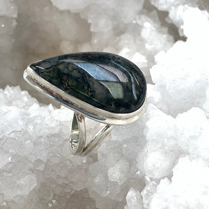 Moss Agate Mystery Ring