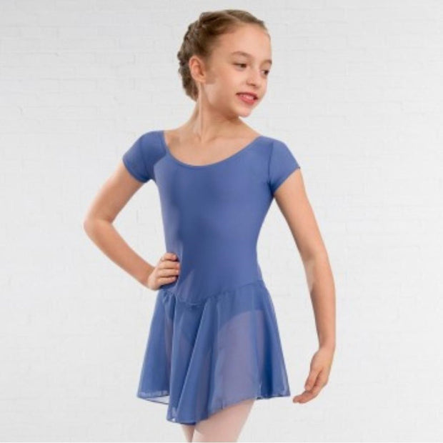Milly Voile Skirted Cap Sleeved Leotard