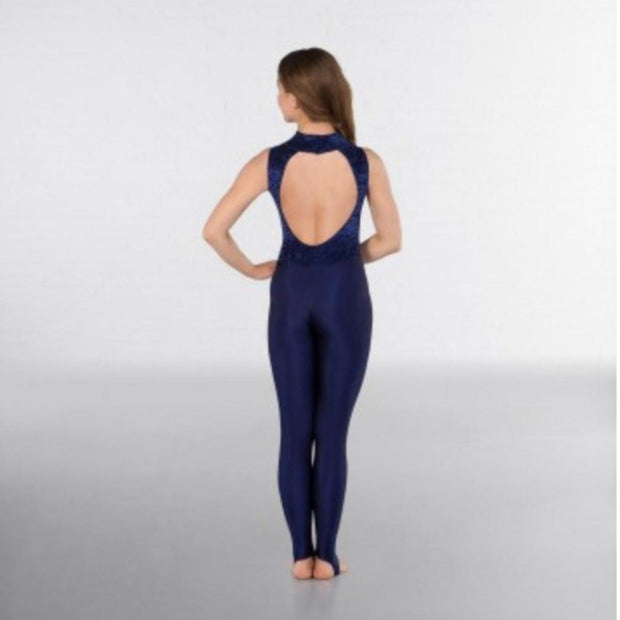 Melinda High Neck Keyhole Back Stirrup Catsuit