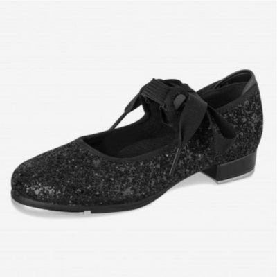Low Heel Glitter Tap Shoes