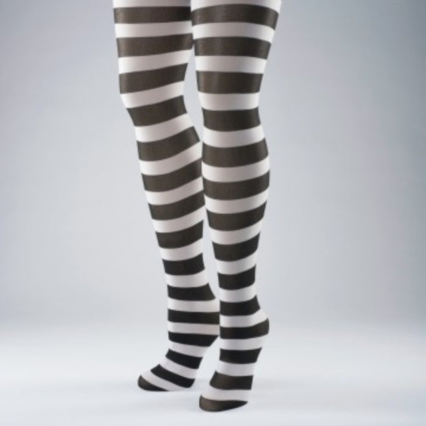 Striped One Size Dance Tights