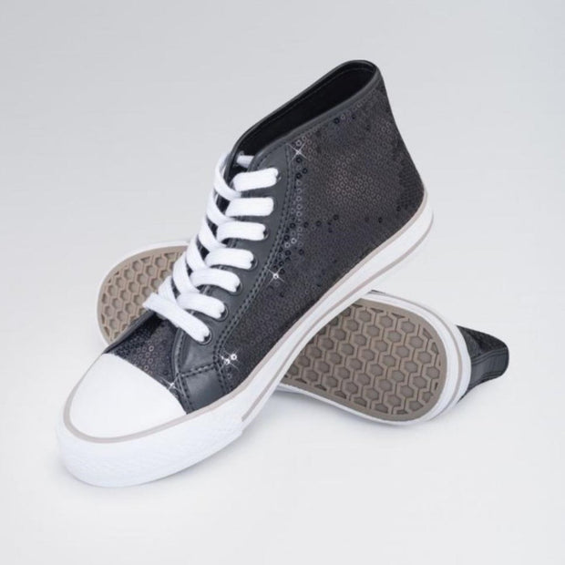 High Top Sequin Dance Sneakers