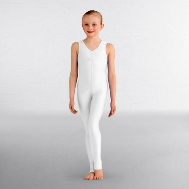 Emma Sleeveless Ruched Front Stirrup Catsuit