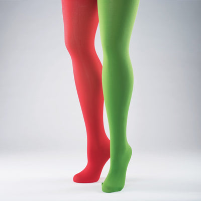 Red & Green Elf Tights Adult One Size