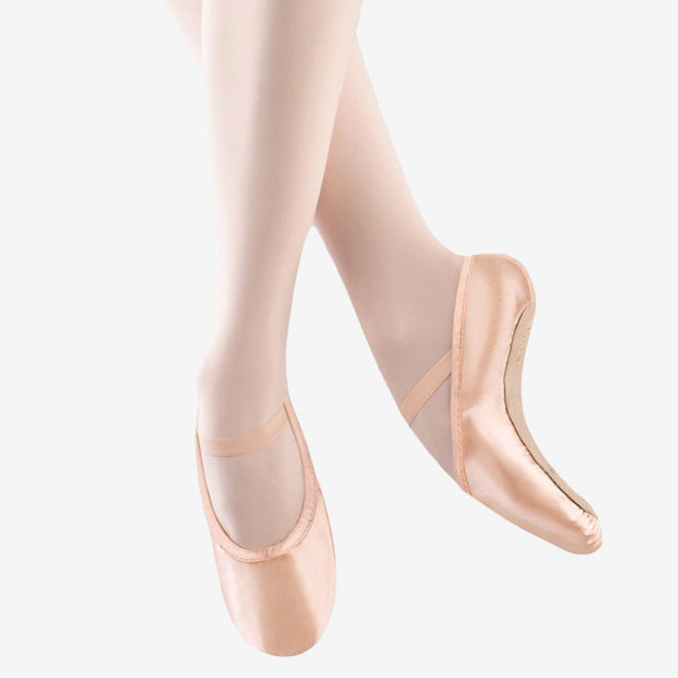 Stretch Satin Full Sole Ballet Shoes