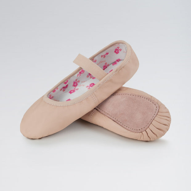 Stretch Leather Full Sole Ballet Shoes