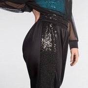 Sequin Side Panel Harem Pants