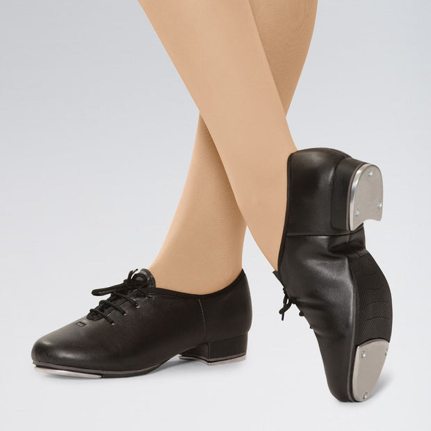 PU Lace Up Jazz Tap Shoes