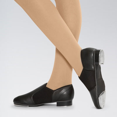 PU Slip On Stretch Tap Shoes