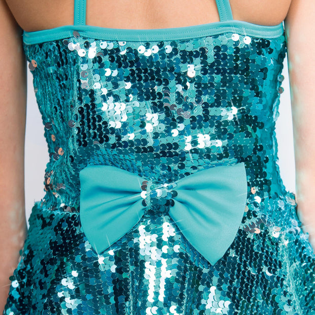 Sequin Glitz High Neck Two Piece