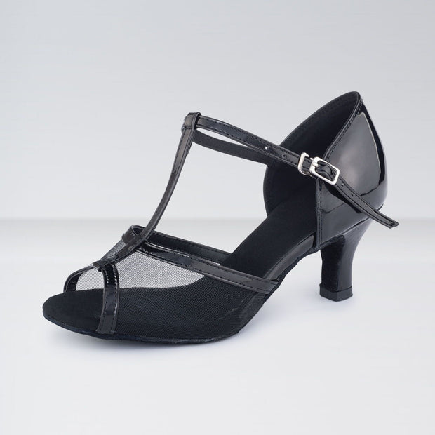 PU & Mesh T-Bar Ballroom Shoes