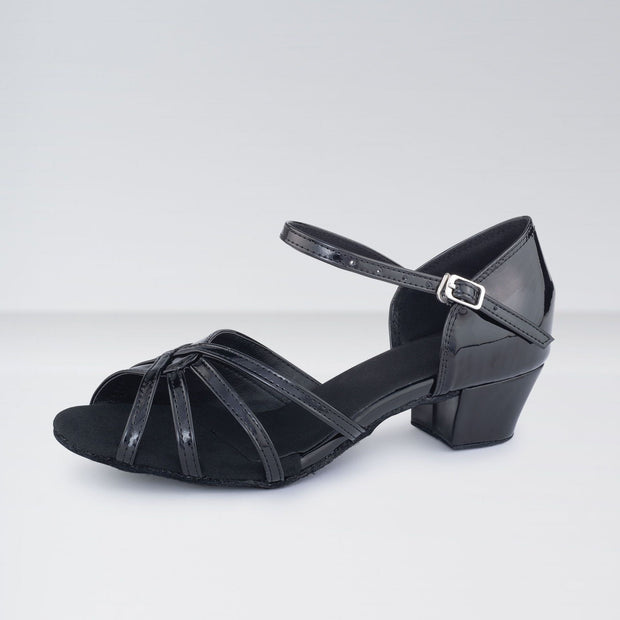 Leather Low Heeled Ballroom Shoes