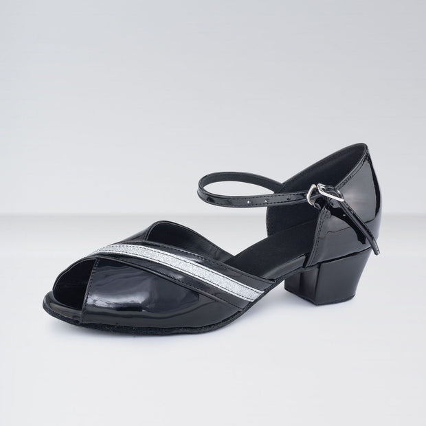 Patent Leather Cuban Heeled Ballroom Shoes