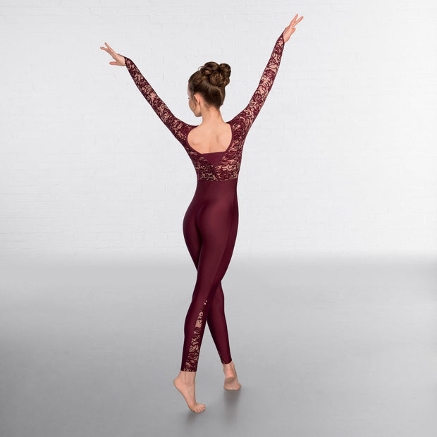 Sequin Laced Top Unitard