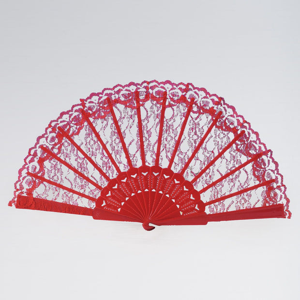 Red Lace Fan