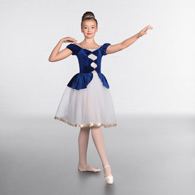 Swirl Velour Bow Sequin Romantic Tutu