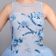 Prestige Blue Flowered Mesh Top Romantic Tutu
