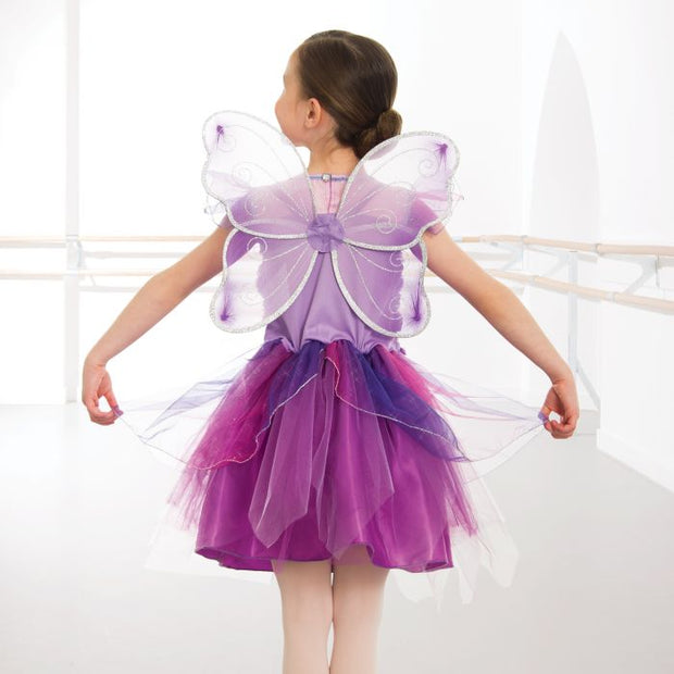 Fairy Dress Set With Wings, Headdress & Wand
