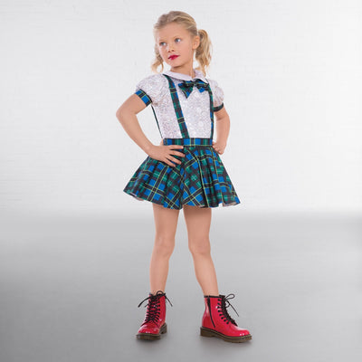 Tartan Schoolgirl Outfit With Bow