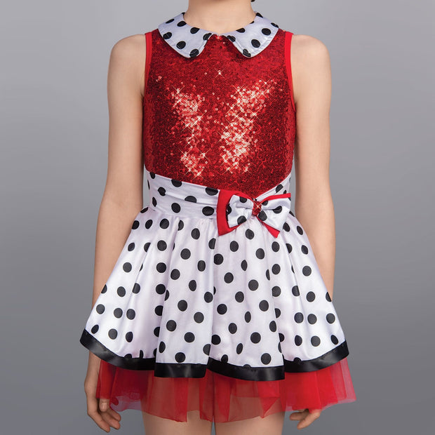 Dotty Collar Glitz Dress