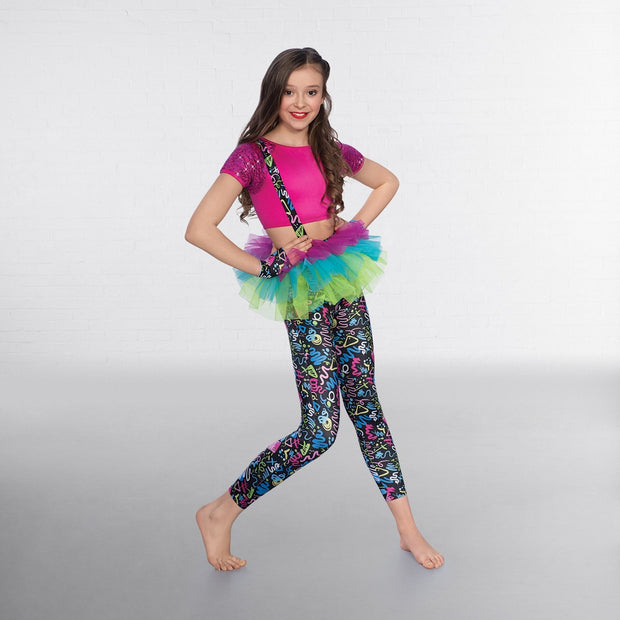Cropped Top, Leggings And Tutu Set