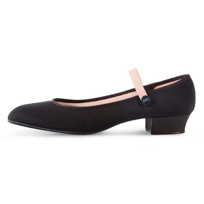 Accent Low Heel Canvas Character Shoes