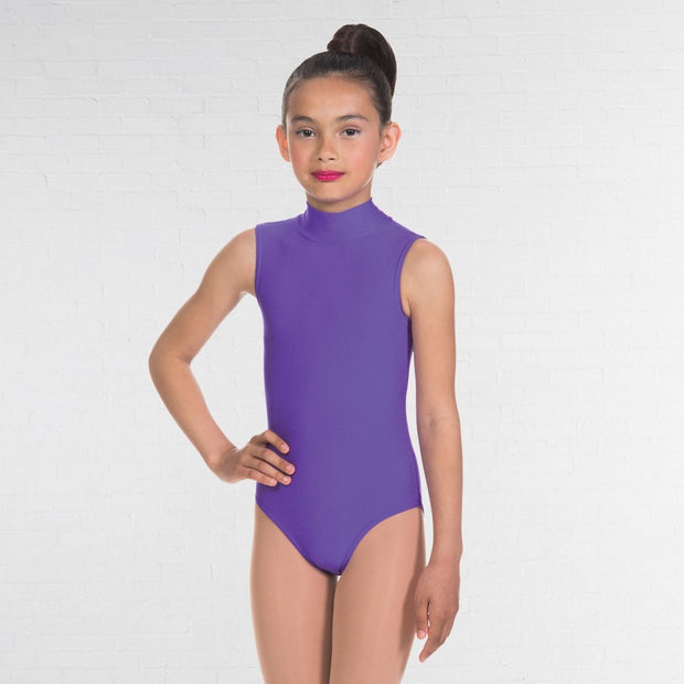 Jill Polo Neck Sleeveless Leotard