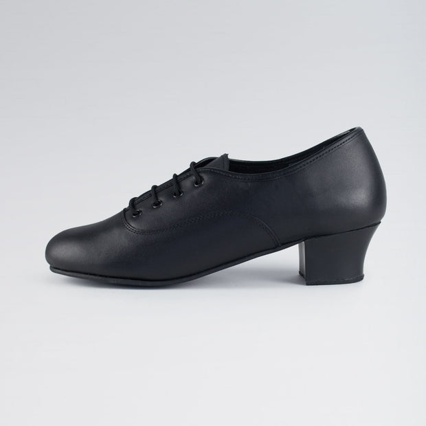 Leather Cuban Heel Oxford Character Shoes