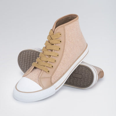 High Top Glitter Dance Sneakers