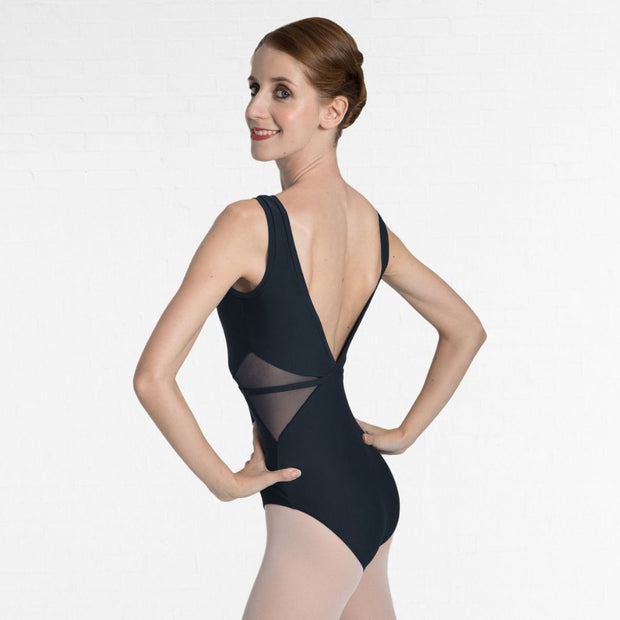 Tank Low Back Mesh Bodice Leotard