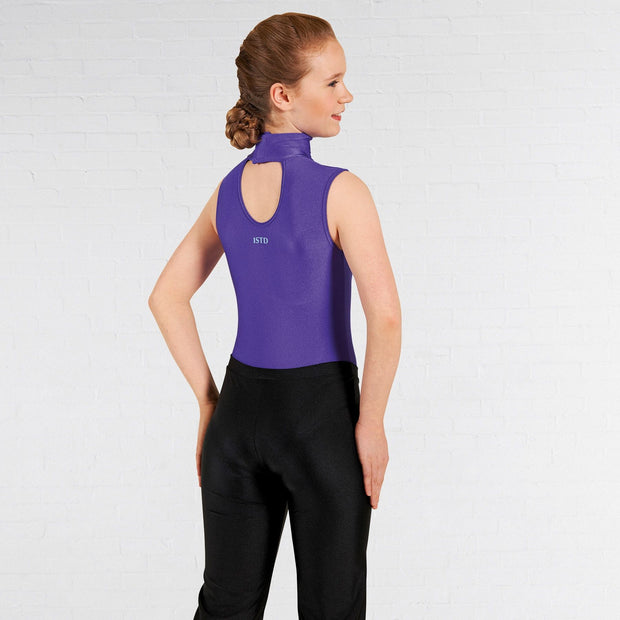 Sleeveless Polo Neck Tap Leotard