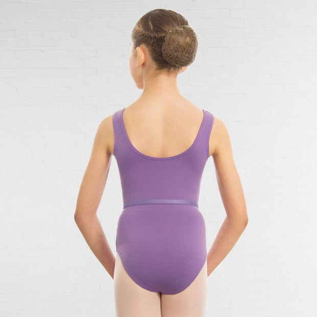 Sleeveless Plain Front Leotard