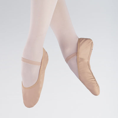 Premium Stretch Leather Full Sole Ballet Shoes