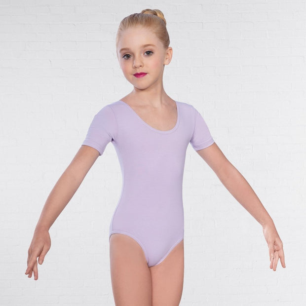 Value Short Sleeved Plain Front Leotard