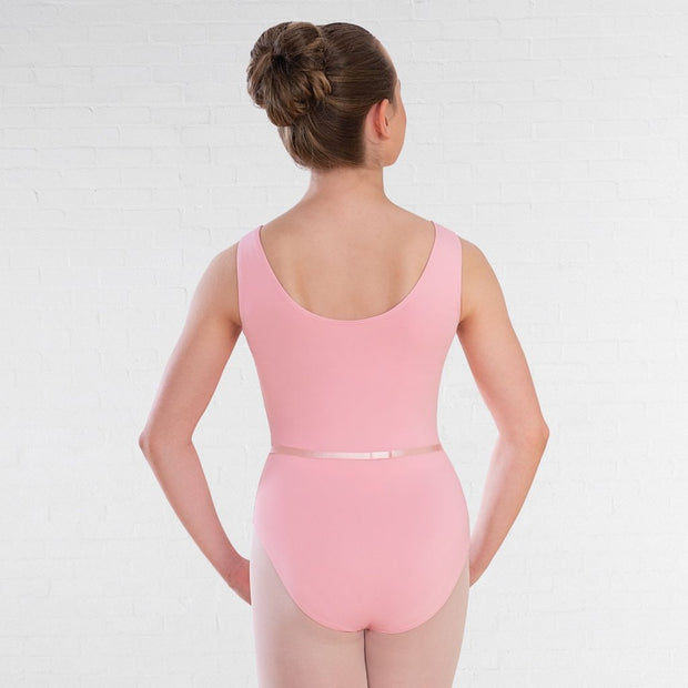 Value Sleeveless Plain Front Leotard