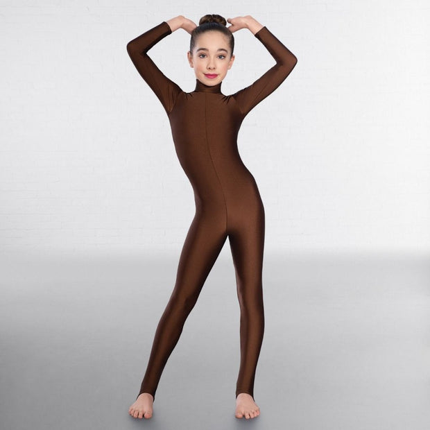 Toni Long Sleeved Keyhole Back Stirrup Catsuit