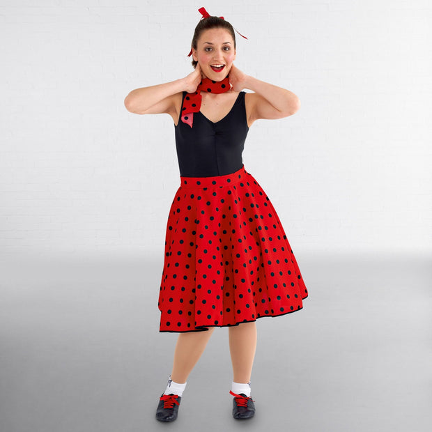 Childs Polka Dot Rock And Roll Skirt