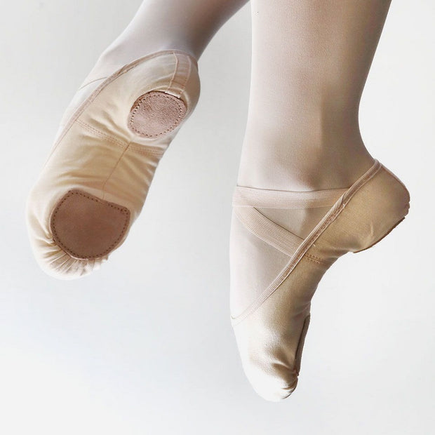 Stretch Canvas Split Sole Ballet Shoes