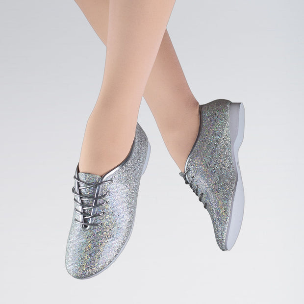 Rubber Sole Hologram Jazz Shoes