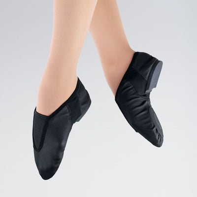 Gusset Flex Stretch Leather Jazz Shoes