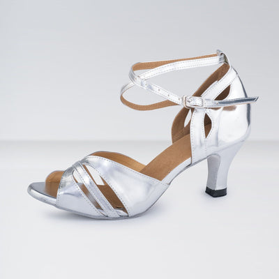 Leather Buckle Fastening Ballroom Shoes
