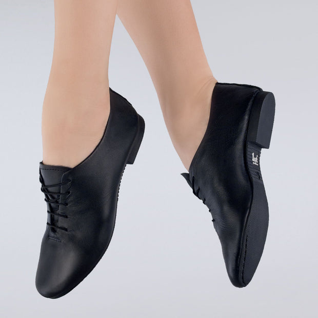 Leather Rubber Sole Jazz Shoes
