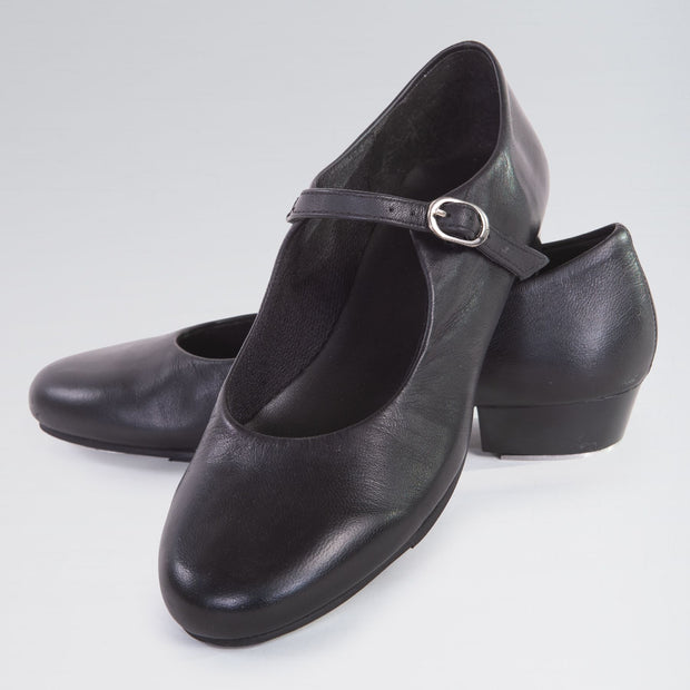 Leather Buckle Strap Tap Shoes
