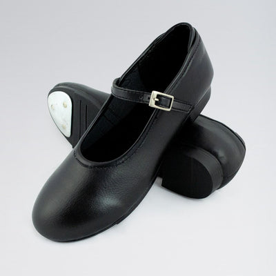 PU Buckle Fastening Tap Shoes