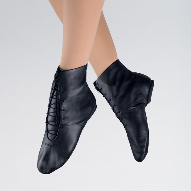 Leather Split Sole Jazz Boots