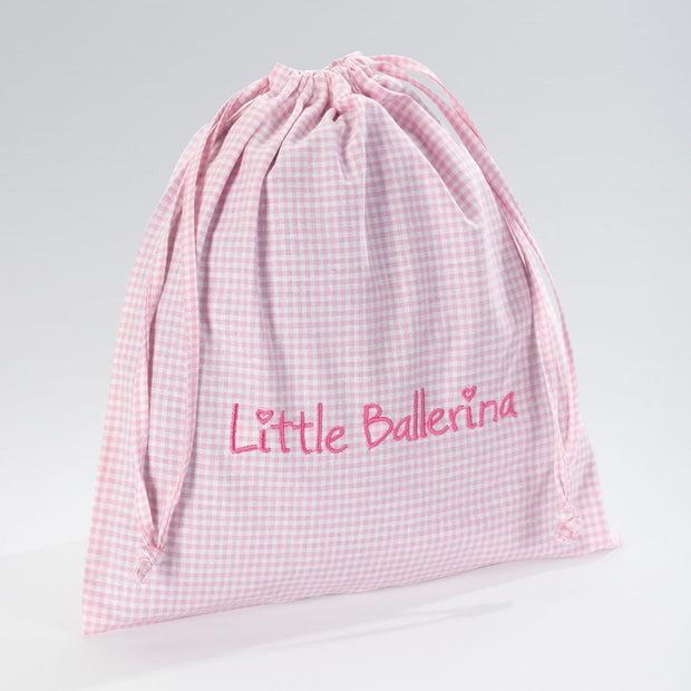 Large Gingham Shoe Bag