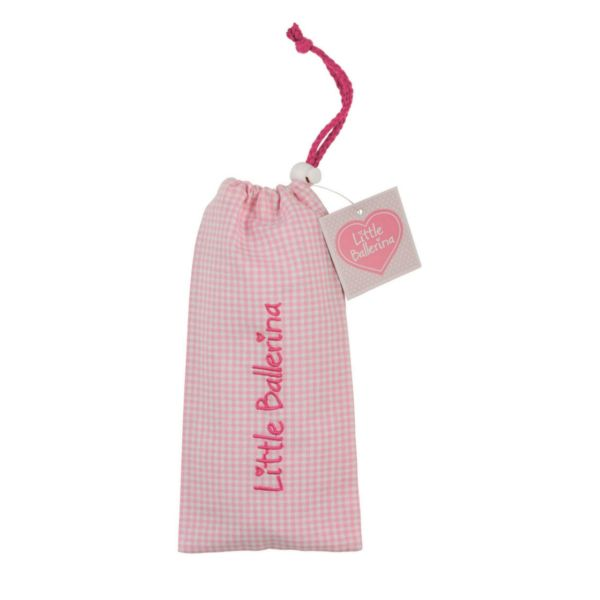 Small Gingham Shoe Bag