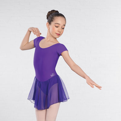 Milly Cap Sleeved Voile Skirted Leotard