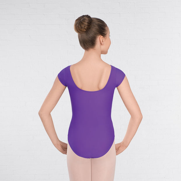 Alice Cap Sleeved Ruched Front Leotard